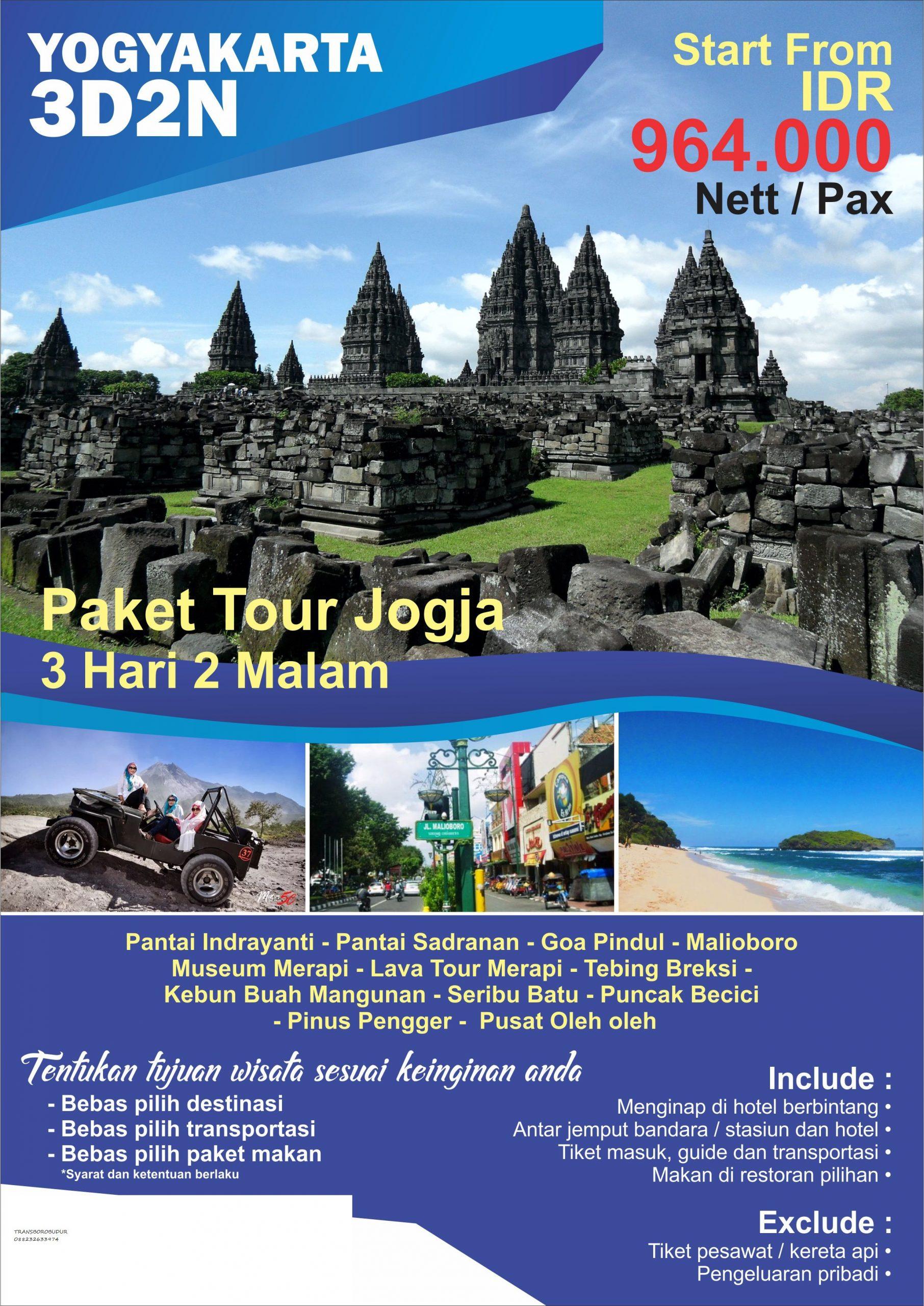 Harga Paket Wisata Di Jogja 2019 Yogyakarta Transborobudur 62 88232633974 Tour Outbound Borobudur